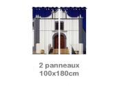 Rideau double à oeillets 2 x 100x180 avec photos