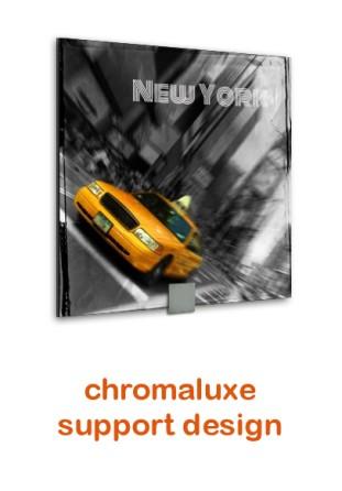 Chromaluxe carré support design