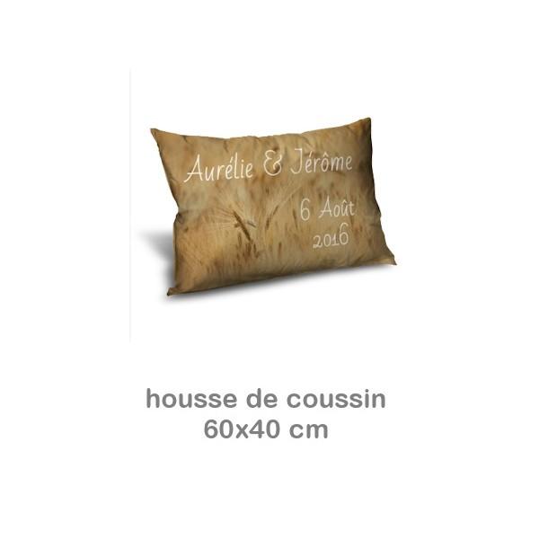 Housse coussin personnalis photo 60x40 miss couettes for Housse de coussin 40 x 60