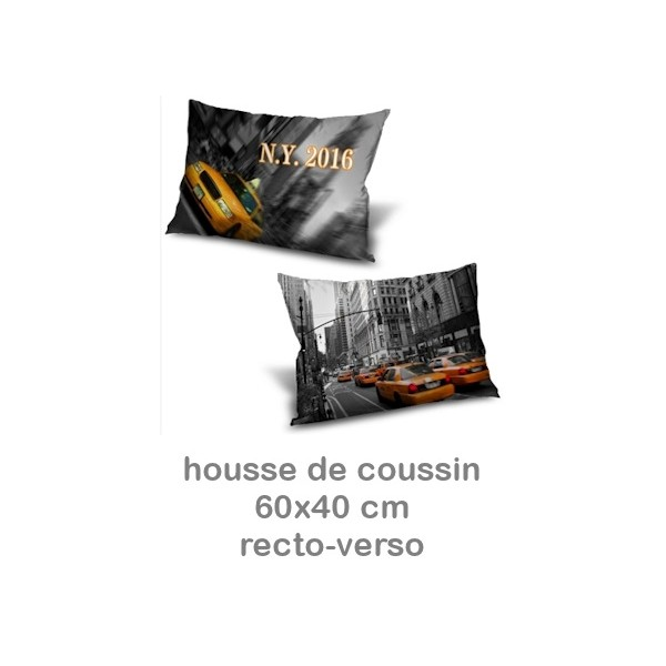 housse de coussin photo recto verso rectangulaire miss couettes. Black Bedroom Furniture Sets. Home Design Ideas