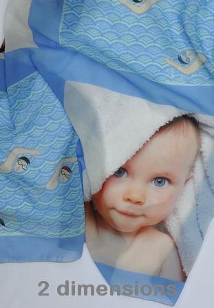 Foulard personnalisé motif piscine avec photos