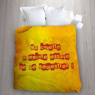 un message humoristique sur votre housse de couette miss couettes id es d co et cadeaux. Black Bedroom Furniture Sets. Home Design Ideas