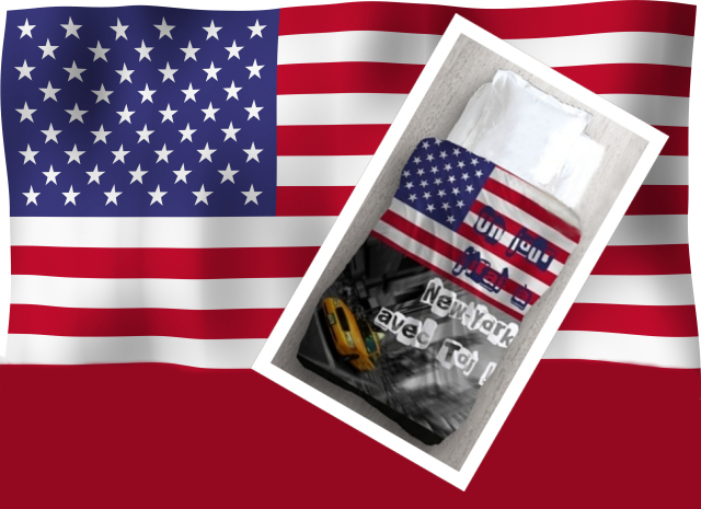 Flagge USA (mit Freistellungspfad / clipping-path)