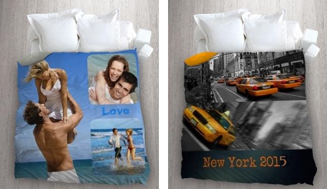 housse de couette personnalisée avec vos photos de vacances