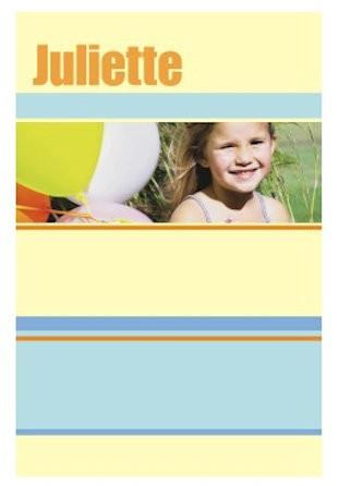 Housse de couette personnalisée photo Yellow Stripes