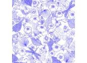 Coussin Fleurs bleu