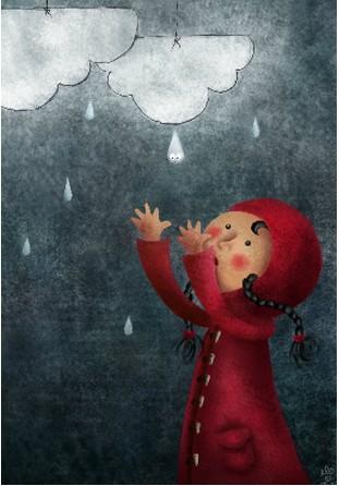 Housse de couette goutte de pluie