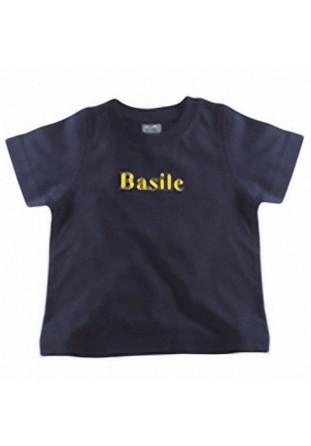 T-shirt garçon brodé bleu marine [x]