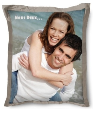Beanbag beige 130x160 avec photo