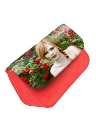 Trousse personnalisée rouge avec photo