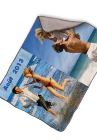 Couverture personnalisée pêle-mêle photo taupe