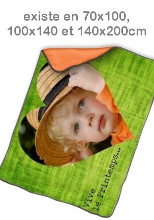 Couverture photo orange pêle-mêle personnalisé