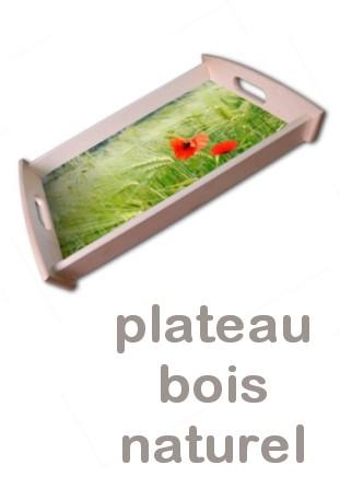 Plateau bois naturel personnalisé