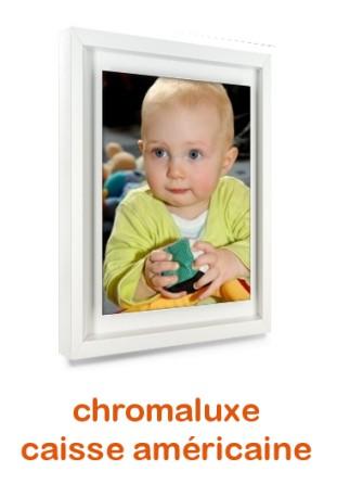 Chromaluxe portrait en caisse américaine blanche