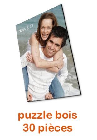 Puzzle en bois personnalisé 30 pièces