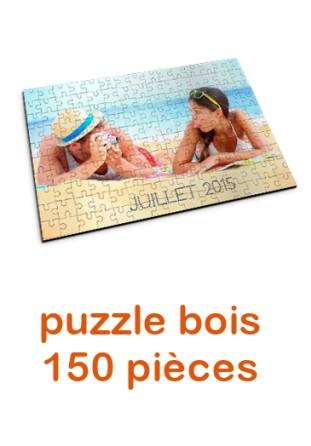 Puzzle en bois personnalisé 150 pièces