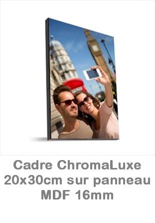 Cadre photo ChromaLuxe MDF portrait