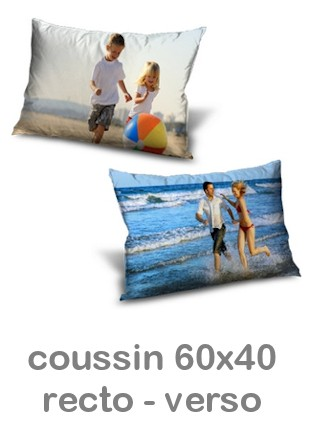 coussin photo recto verso rectangulaire miss couettes. Black Bedroom Furniture Sets. Home Design Ideas