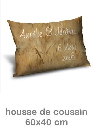 Housse Coussin personnalisé  photo 60x40