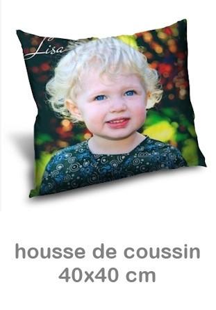 Housse Coussin personnalisable photo 40x40