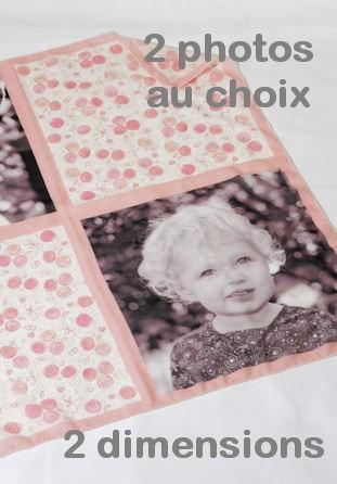 Foulard personnalisé motif roses avec photos
