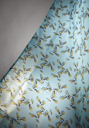 Rideau de douche décor ailes d'érable 140cm