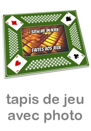 Tapis pour jeu de cartes personnalisé photo vert