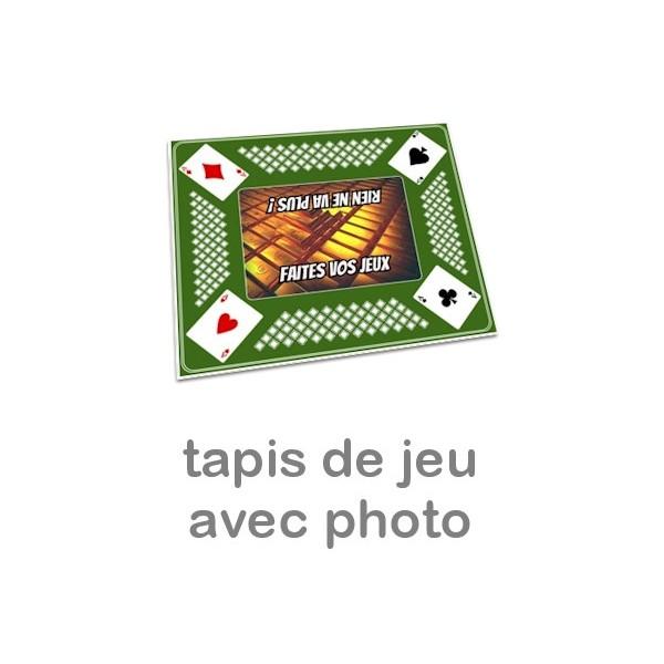 Tapis Pour Jeu De Cartes Personnalis Photo Vert Miss Couettes