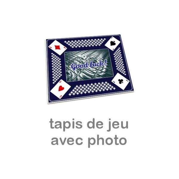 Tapis Pour Jeu De Cartes Personnalis Photo Bleu Miss Couettes