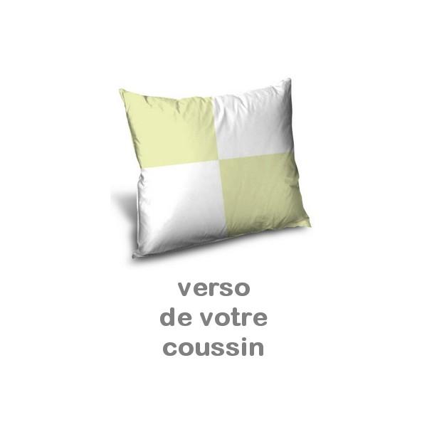 coussin personnalis imprim avec photo vert doux miss couettes. Black Bedroom Furniture Sets. Home Design Ideas