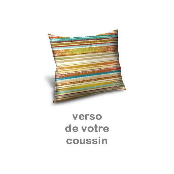 Coussin personnalis photo et impression rayures miss couettes - Tapis rayures multicolores ...
