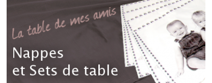 nappes et sets de table personnalisation photo broderie. Black Bedroom Furniture Sets. Home Design Ideas