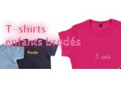 T-shirts enfant personnalisation broderie