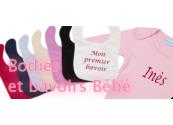 Bodies et bavoirs bébé personnalisables