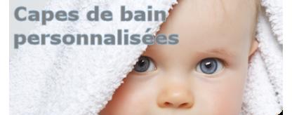 Capes de bain bébé à personnaliser