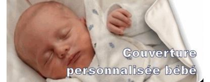 Couverture personnalisée bébé