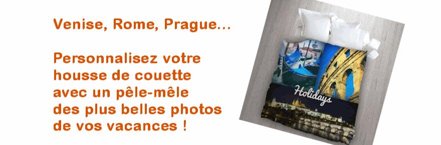 Réalisez une housse de couette avec vos photos de vacances